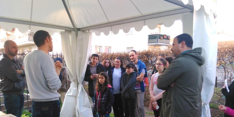 Inauguration d'un point de compostage à la résidence  « Les Jardins de la Rodade » à Montferrand