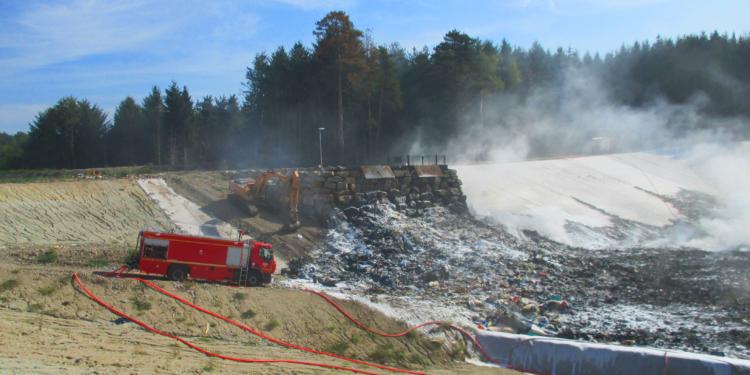 Un incendie sur l'installation de stockage de déchets non dangereux à Ambert