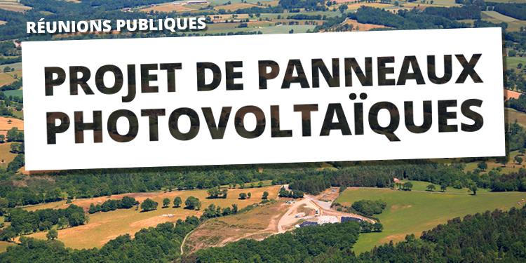 Réunions publiques : projet photovoltaïque