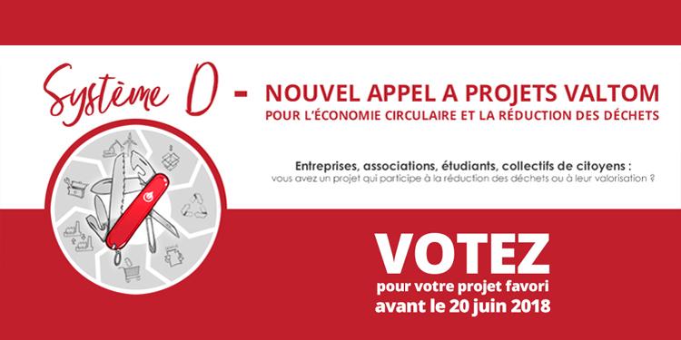 Découvrez les projets sélectionnés et votez pour votre projet favoris du 1er au 20 juin 2018