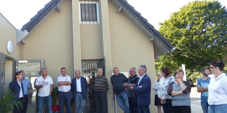 Inauguration des nouveaux locaux du pôle de valorisation des déchets ménagers de Saint-Sauves-d'Auvergne