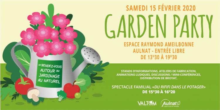 GARDEN PARTY : samedi 15 février à Aulnat