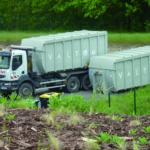 Transport des caissons vers installations de traitement